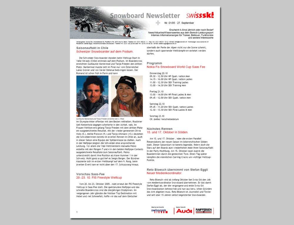 Swiss-Ski Word-Vorlagen gemäss Corporate Design | Webagentur Zürich