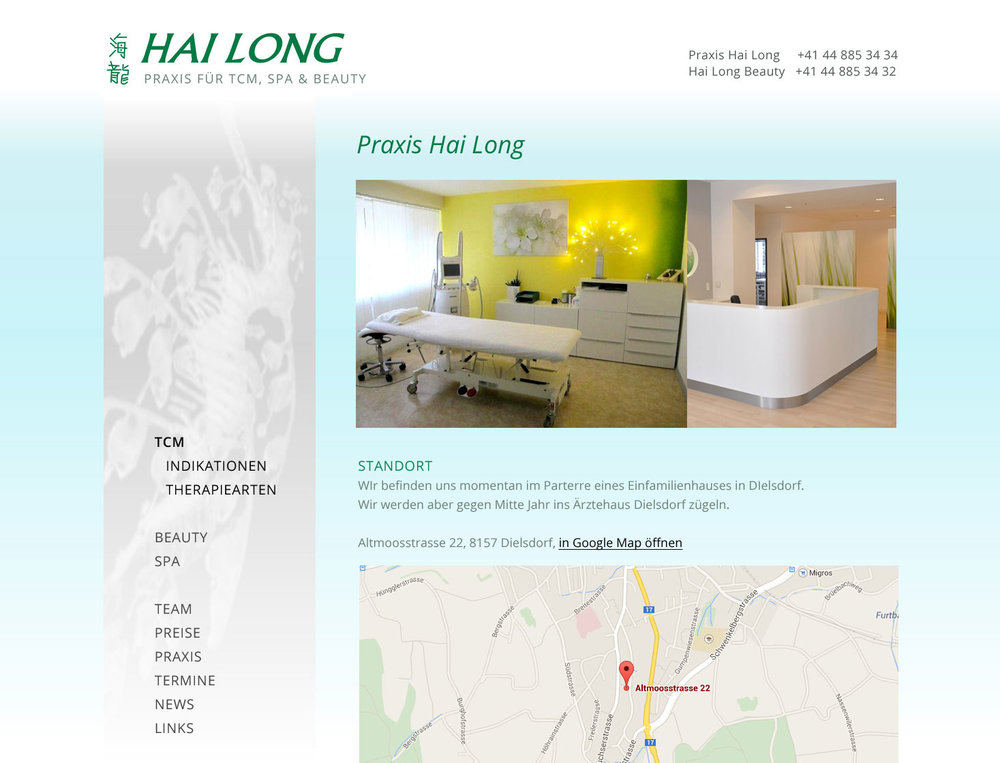 "Responsive Webdesign für TCM, Spa & Beauty Praxis ""Hai Long"" inklusive online Booking Engine. - 2"
